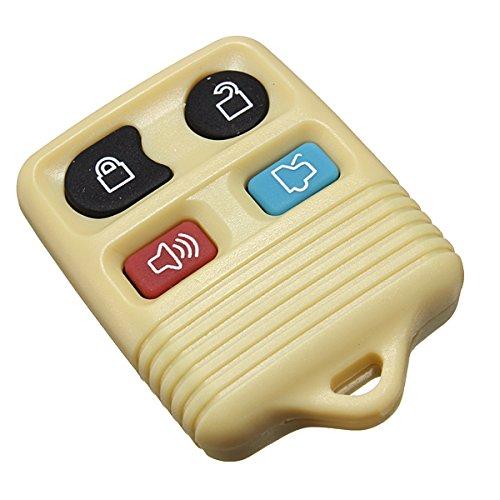 GOZAR Gummi-Pad 4-Tasten-Fernbedienungs Schlüssel Shell Fob Case 4 Farbe Für Ford-Gelb