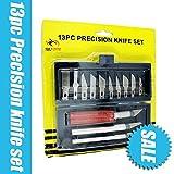 Best Mini Knife - Toolscentre Unique 13Pcs Hobby Knife Set Carving Tools Review