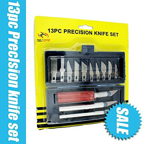 TOOLS CENTRE UNIQUE 13PCS HOBBY KNIFE SET CARVING TOOLS SET WITH 3...