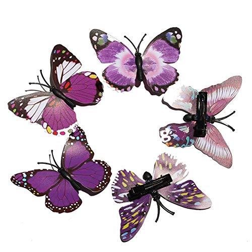 Vikenner Simulation Schmetterling haarklammern Süß bow Kind baby Haarschmuck Brosche Haarclips klein Tanz Haarspange ()