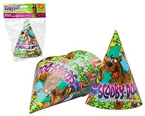 Atosa-Atosa-17118-pack 4 uds Gorro Fiesta Scooby doo 16 cm, Color Verde (17118)