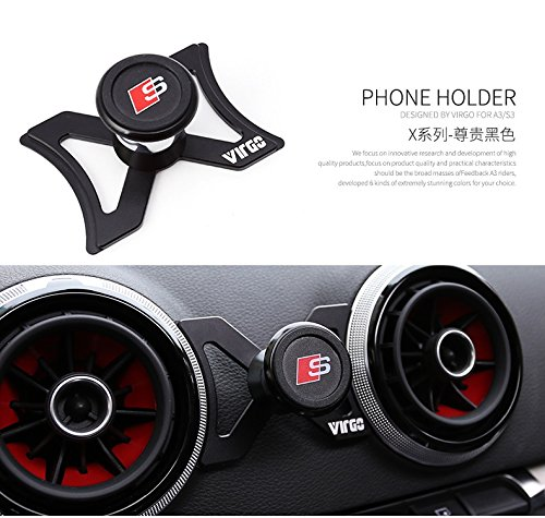 Magnet Phone Holder for Audi A3/S3/RS3 Magnet Support de téléphone pour Audi A3/S3/RS3 (Black)