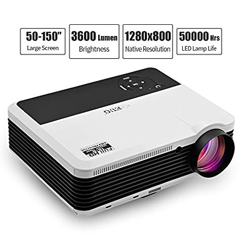 3600 Lumen HD Video Projector WXGA - 1080P Support Dual