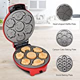Finether Cake Maker/Donuts Maker/Waffle Maker: Multi-Functional Snack Maker Adjustable Temperature with 3 Different