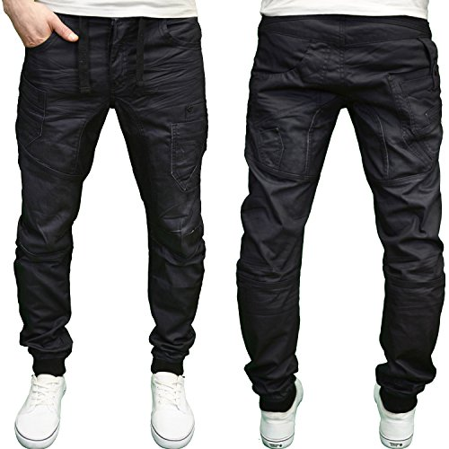 eto-mens-designer-branded-panelled-stitch-black-cuffed-jogger-jeans