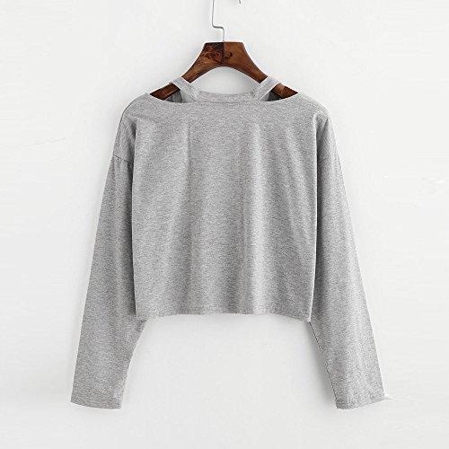 Ulanda-EU Camicia - Maniche Lunghe - Donna Gray