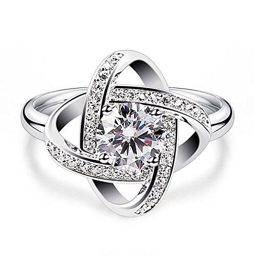 BCatcher-Ring-Damen-Twist-Wrfel-Liebe-Set-925-Sterling-Silber-Zirkonia-Anhnger-mit-Etui-muttertag-geschenk