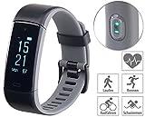Newgen Medicals Fitnessuhr: Premium-Fitness-Armband, XL-Touchdisplay, Pulsmesser, 18 Sportarten...