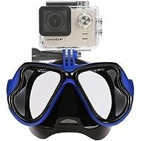 Aokon GoPro Hero4 / Hero3 + / 3 SJ sessione multi-funzione Occhiali Dive maschera per immersioni subacquee e snorkeling ( blu