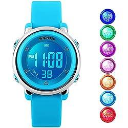 Kids Digital reloj deportivo, LED, resistente al agua