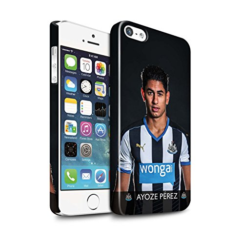 Offiziell Newcastle United FC Hülle / Glanz Snap-On Case für Apple iPhone 5/5S / Pack 25pcs Muster / NUFC Fussballspieler 15/16 Kollektion Ayoze