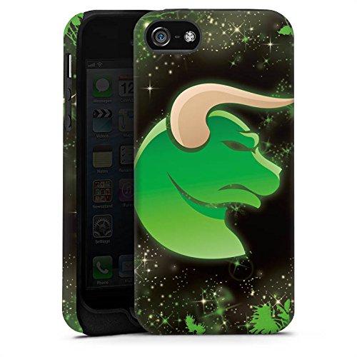 Apple iPhone X Silikon Hülle Case Schutzhülle Sternzeichen Astrologie Stier Tough Case matt