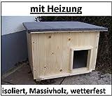 Katzenhaus lang mit Heizung Katzenhütte Wurfkiste Hundehütte wetterfest isoliert