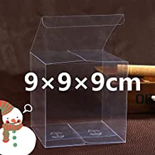 C.X.Y. - Lote de 50 cajitas de PVC transparente de varios tamaños para regalos