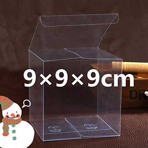 50 PZ Scatola PVC trasparente VARIA MISURA Portaconfetti BOMBONIERA Confezione Regalo (9*9*9cm)