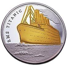 100 años aniversario Titanic chapado en oro moneda conmemorativa y coleccionable ...