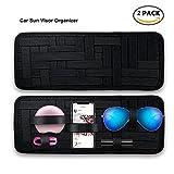 Keku2 un sac de stockage de pare-soleil pour voiture, stockage antidérapant tissé table élastique lunettes de soleil support de carte de carburant accessoires numériques