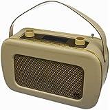 KitSound Jive Radio DAB Numérique Portable de Style Rétro Années 50 avec Double Alarme et Poignée de Transport - Livré avec Prise Anglaise - Crème