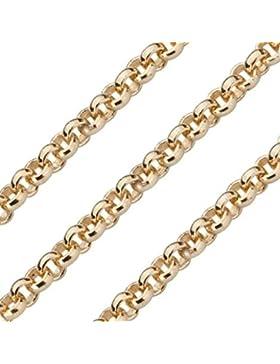 Quoin Damen-Erbskette Kette für Münzen Vergoldet teilvergoldet 80 cm - QK-EG1-80