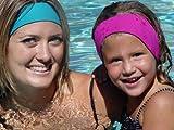 Ear Band-It Fascia da Nuoto con Tappi per Le Orecchie (inventata dal Medico e raccomandata dal Medico) Grandi (età 10) Magenta