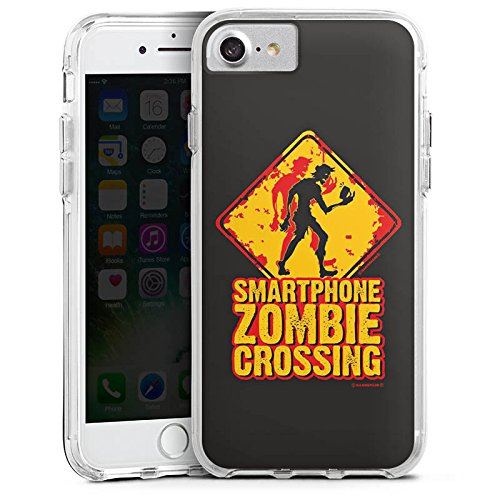 Apple iPhone 6 Plus Bumper Hülle Bumper Case Glitzer Hülle Smartphone Zombie Handy Zombie Bumper Case transparent