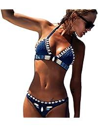 Bikini,Jimma Femmes Bikini Bohème fait main tricot maillots de bain maillot de bain