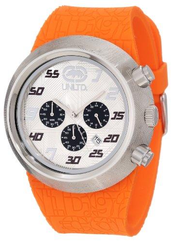 Marc Ecko - E17568G1 - The Eero - Montre Homme - Quartz Chronographe - Cadran Blanc - Bracelet Caoutchouc Noir