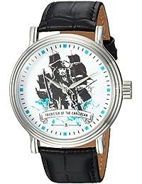 Disney Men's 'Pirates' Quartz Metal Casual Watch, Color Black (Model: WDS000369)