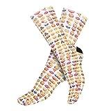 Calcetines para mujer, diseño divertido, talla única EMOJI Talla única