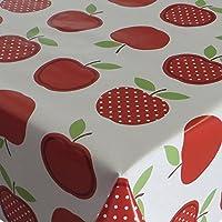 L/änge w/ählbar 50cm x 140cm Red Apples /Äpfel Rot Wei/ß Wachstuch Tischdecke Wachstischdecke Gartentischdecke Abwaschbar Meterware 623-02