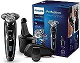 Philips SmartClick Serie 9000 S9531/26 Rasoio Elettrico da Barba con Testine Rotanti Wet&Dry, da Uomo, con Rifinitore
