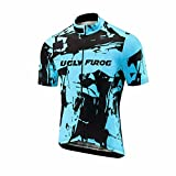 Uglyfrog -Camo Bunt Sport Radsport Trikots & Shirts Kurzarm Herren Sommer Stil Bekleidung Atmungsaktiv Top
