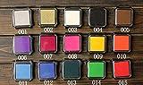 Comfot 15 colori Inkpad per Paper Craft Fabric Fingerprint Scrapbook Painting Wedding Kids Festa di compleanno - Grande ottagonale , 004