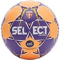 Select Mundo–Balón de Balonmano, Color Purple/Orange, tamaño 1