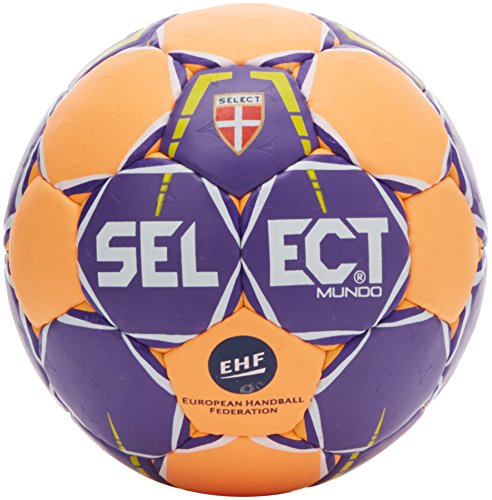 Select Mundo Handball, Purple/Orange, 3