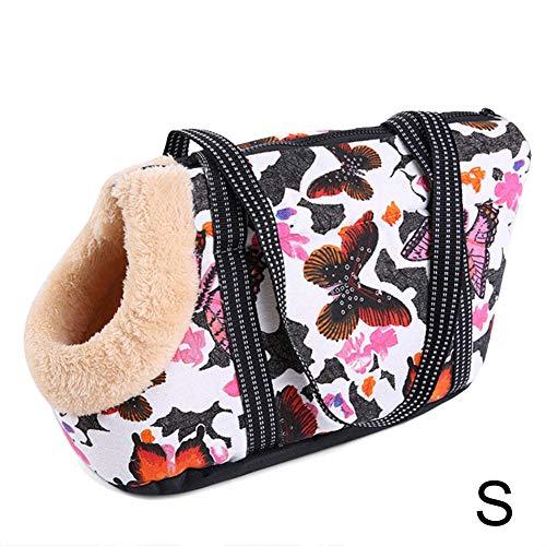Ohyoulive Portable Pet Dog Bag Carrier Shoulder Bag Handbag Soft Outdoor Puppy Sack Tote