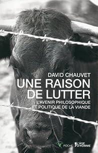 Une raison de lutter par David Chauvet