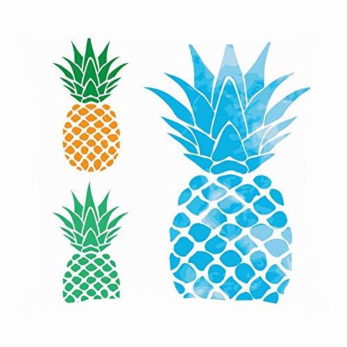 Typographie T-Shirt, Grafik, Vektoren, Essen und Trinken, Ananas-Symbole, quadratischer Kissenbezug 45,7 x 45,7 cm ()