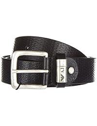 Armani Jeans cinturón de hombre en piel nuevo ardiglione negro 2b2b8834967d