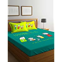 Portico Happiness Super King Bedsheet Set Printed, Green, 274X274cm, 8044511