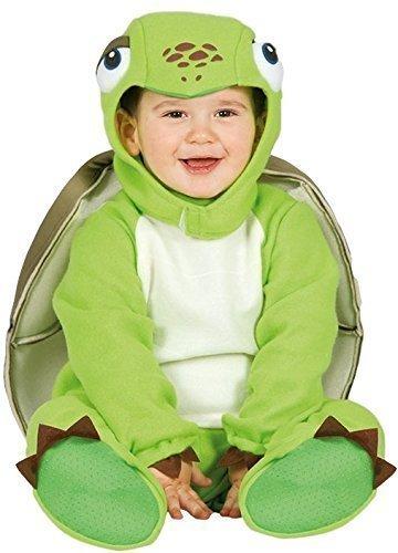 Fancy Me Baby Mädchen Jungen grün Schildkröte Landschildkröte See Tier Halloween Karneval Kostüm Verkleidung Outfit 6-24 Monate - 6-12 Months