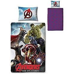Marvel Character World Disney Avengers Edad de Ultron Juego de Funda de edredón