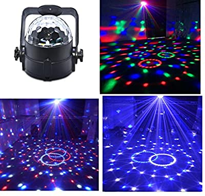 Stage Disco Ball Lights Wonsung 12W RGBW multi-colour LED strobe light Party lights mini magic ball DJ Lighting for birthday party,Karaoke,Bar,Pub,Stage,Wedding,Christmas,New Year Celebration