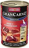 Animonda GranCarno Hundefutter Senior, Nassfutter für ältere Hunde ab 7 Jahren, aus Rind und Putenherzen, 6er Pack (6 x 400g)