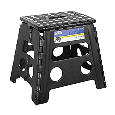Folding Step Stool - 13 inch Height Premium Heavy Duty Foldable Stool For Kids & Adults, Kitchen Garden Bathroom Stepping Stool From ImiKas produced by ImiKas - quick delivery from UK.