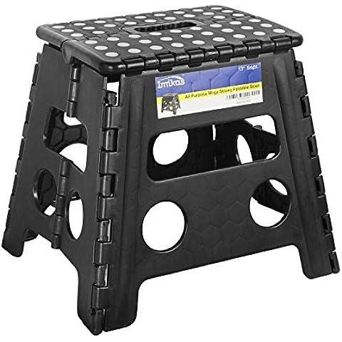 Taburete de paso plegable–13Pulgadas altura Premium Heavy Duty plegable taburete para niños & adultos, cocina jardín baño Stepping taburete de