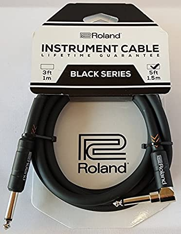 Roland 210090099 5ft/1.5 m Instrument Cable Angled/Straight 1/4 Inch