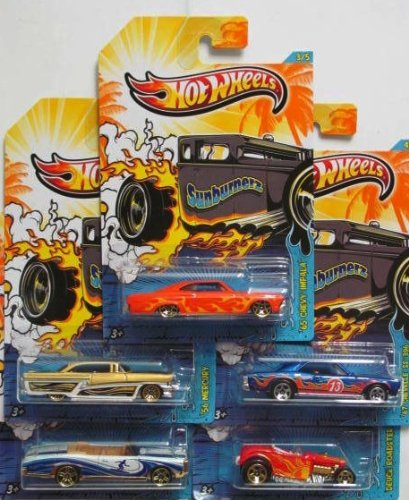 2013-hot-wheels-sunburnerz-5-car-set-kroger-exclusive-by-mattel
