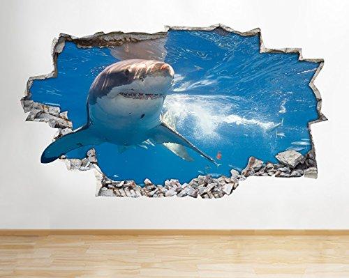 Posters Per Camera Da Letto : Z shark ocean sea animal ragazzi bagno decalcomania da parete