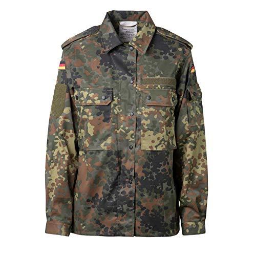 Original Damen BW Feldbluse Flecktarn 5- Farbig für Frauen | Bundeswehr Kampfbluse und Survival Bluse | Tactical Bluse und Security Bluse (Flecktarn 5- Farbig, 40/42 M)